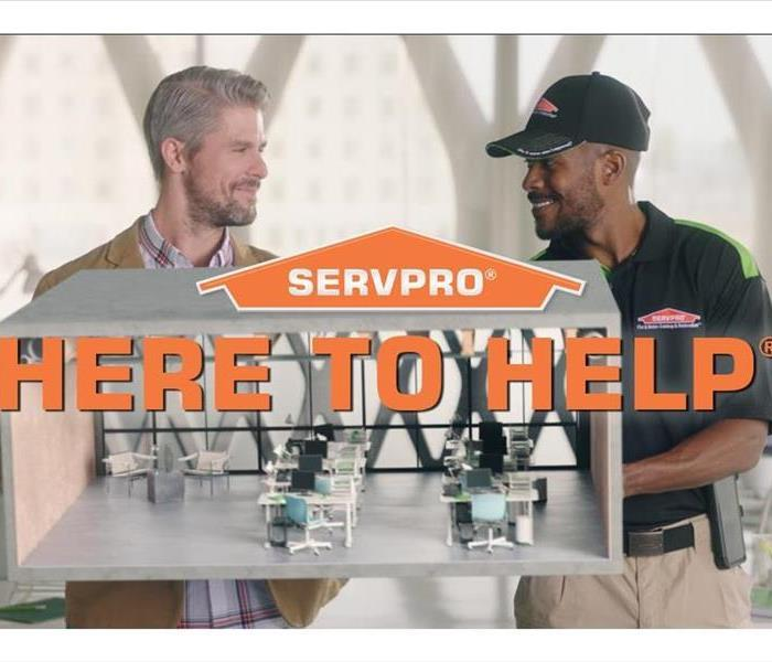 SERVPRO logo Here to help